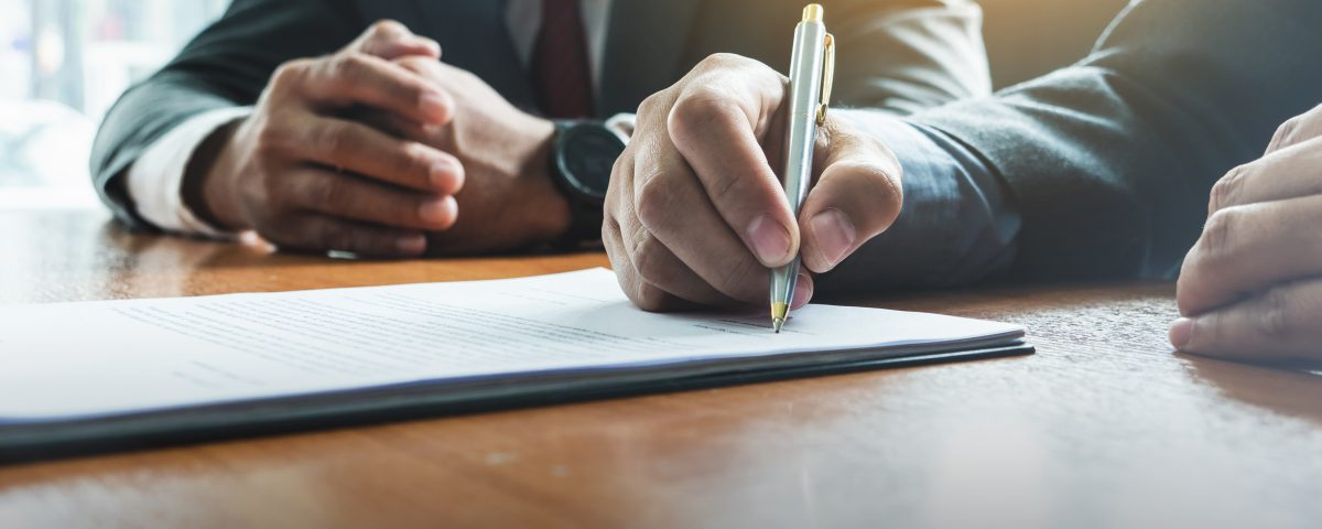 Business man sign a contract investment professional document agreement - c2c signings